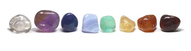 Row of Chakra Crystals